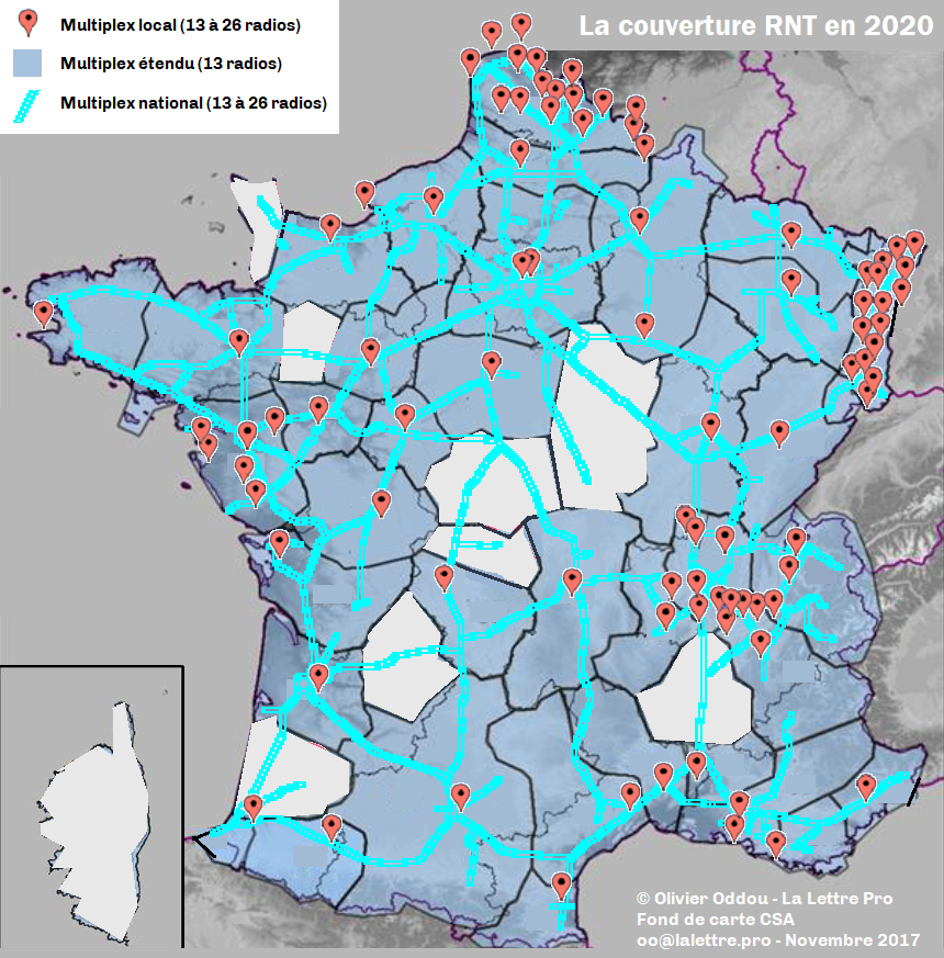 carte autoroute france 2020 Le nouveau visage de la RNT en 2020