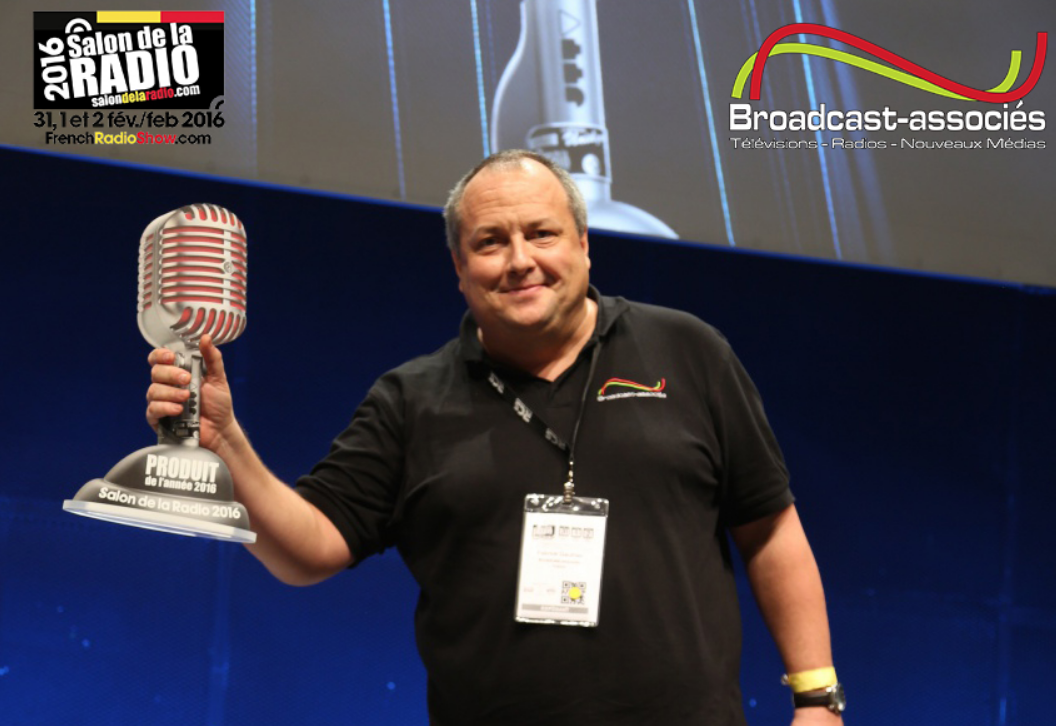 """Broadcast-associés a reçu le """"Trophée du Produit de l'Année 2016"""" pour une solution de radio enrichie, lors du Salon de la Radio. Idem en 2015, la société avait été récompensée lors de l'IBC pour la """"Meilleure Innovation Radio"""" sur le continent Africain."""