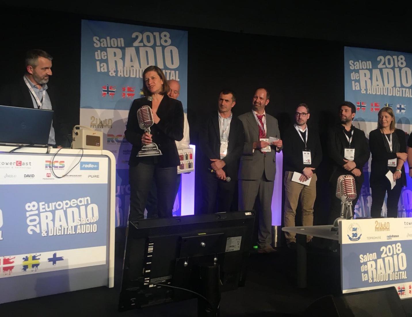 Cécile Mégie, directrice de RFI, a reçu hier soir le Grand Prix Radio 2018 de la meilleure radio francophone publique