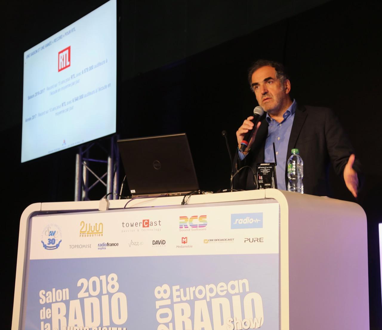 Christopher Baldelli,  Vice-Président du Directoire, en charge de la Radio et de l'Information au Groupe M6, a partagé sa vision de la radio de demain et notamment celle de RTL, première radio de France © Serge Surpin / La Lettre Pro