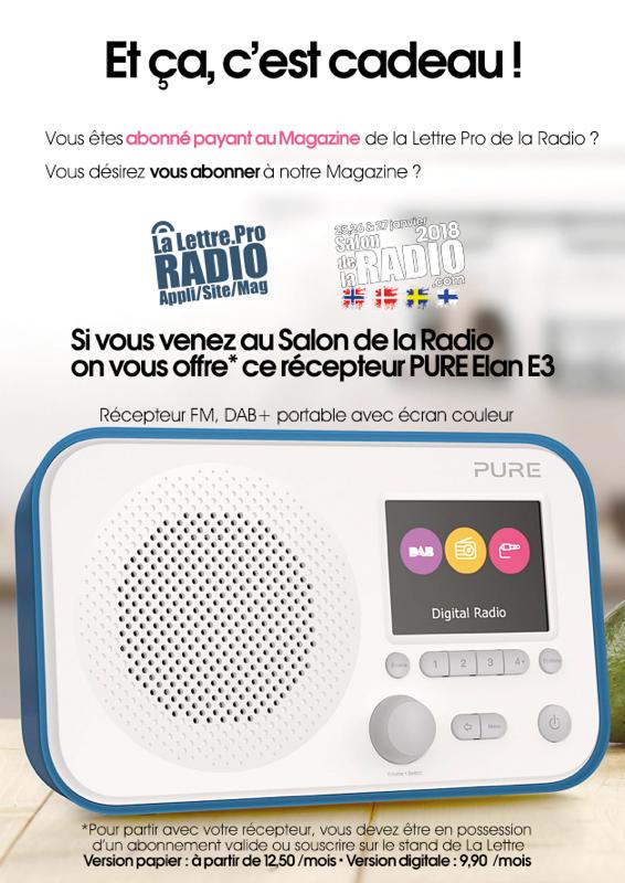 La Lettre Pro de la Radio offre des récepteurs Pure Elan 3