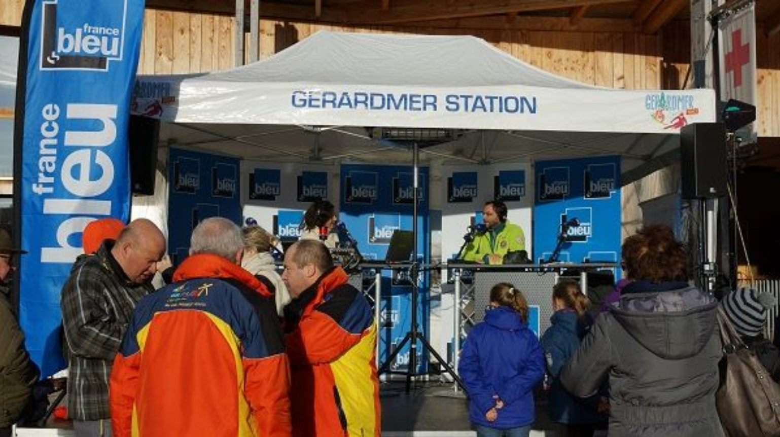 France Bleu en direct de Gérardmer © Radio France - Frédéric Bélot