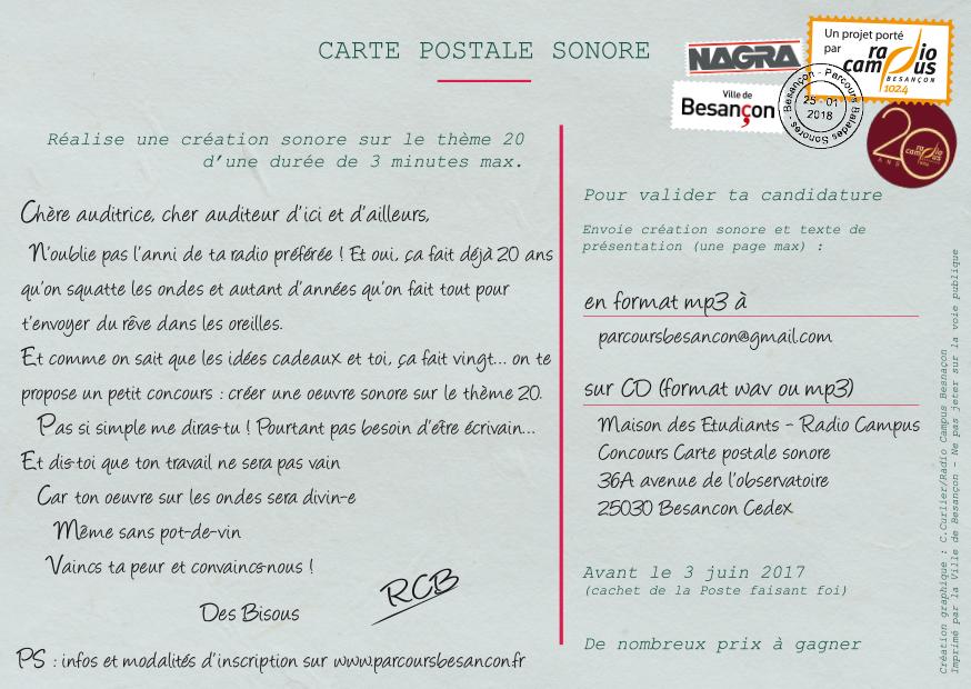Un concours de création sonore par Radio Campus Besançon
