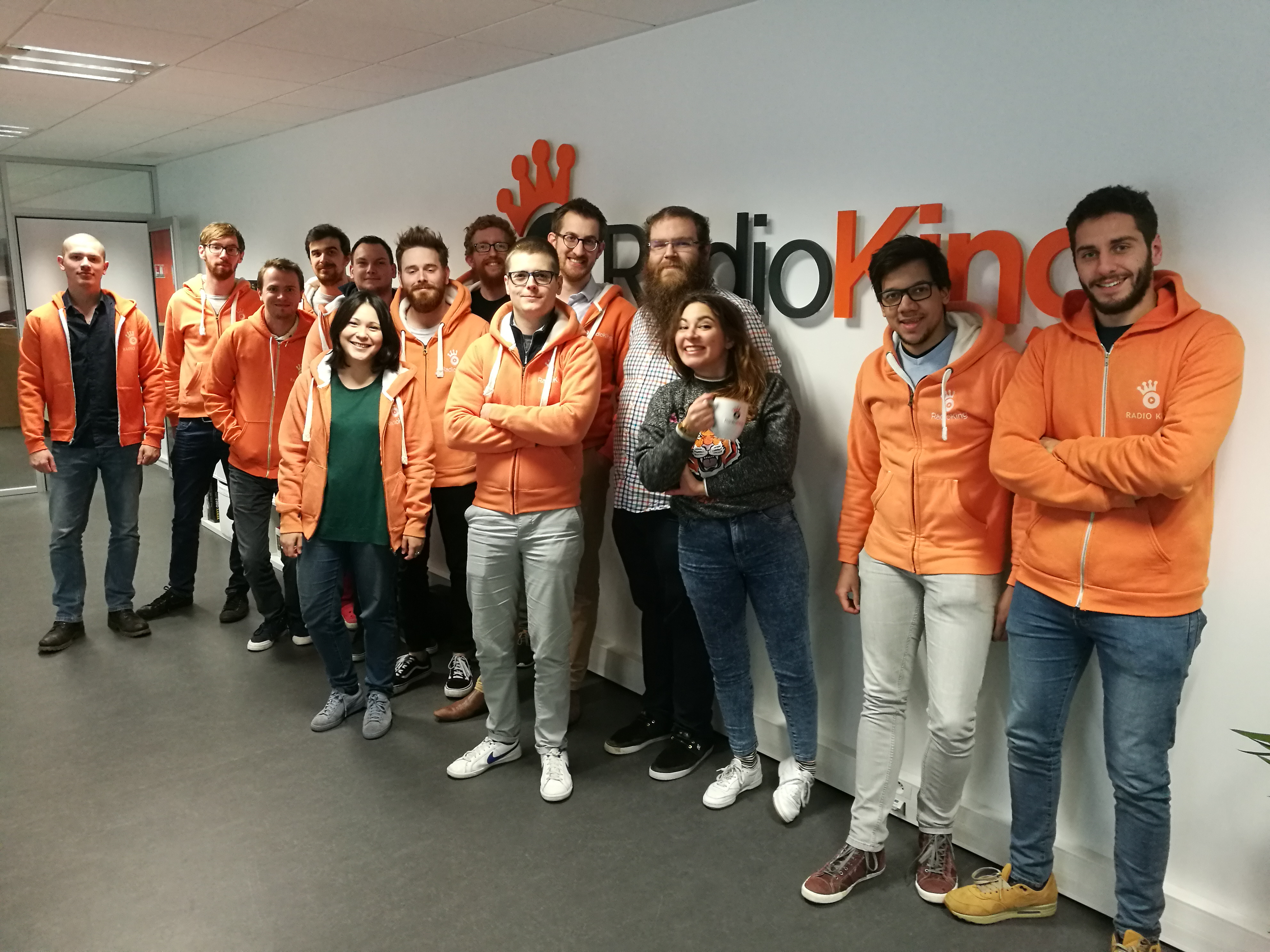 La jeune équipe de RadioKing. Moyenne d'âge : 25 ans. © 3XL Médias - Olivier Malcurat