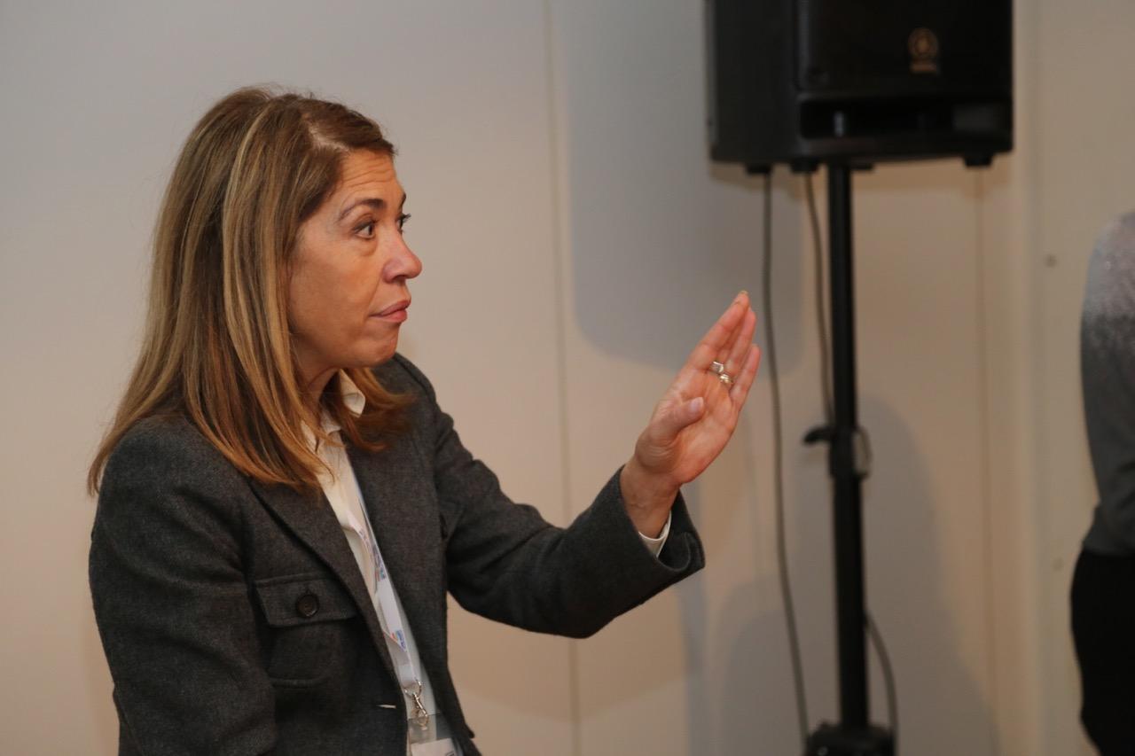 Marie-Christine Saragosse, patronne de France Médias Monde, au dernier Salon de la Radio @ Serge Surpin / La Lettre Pro