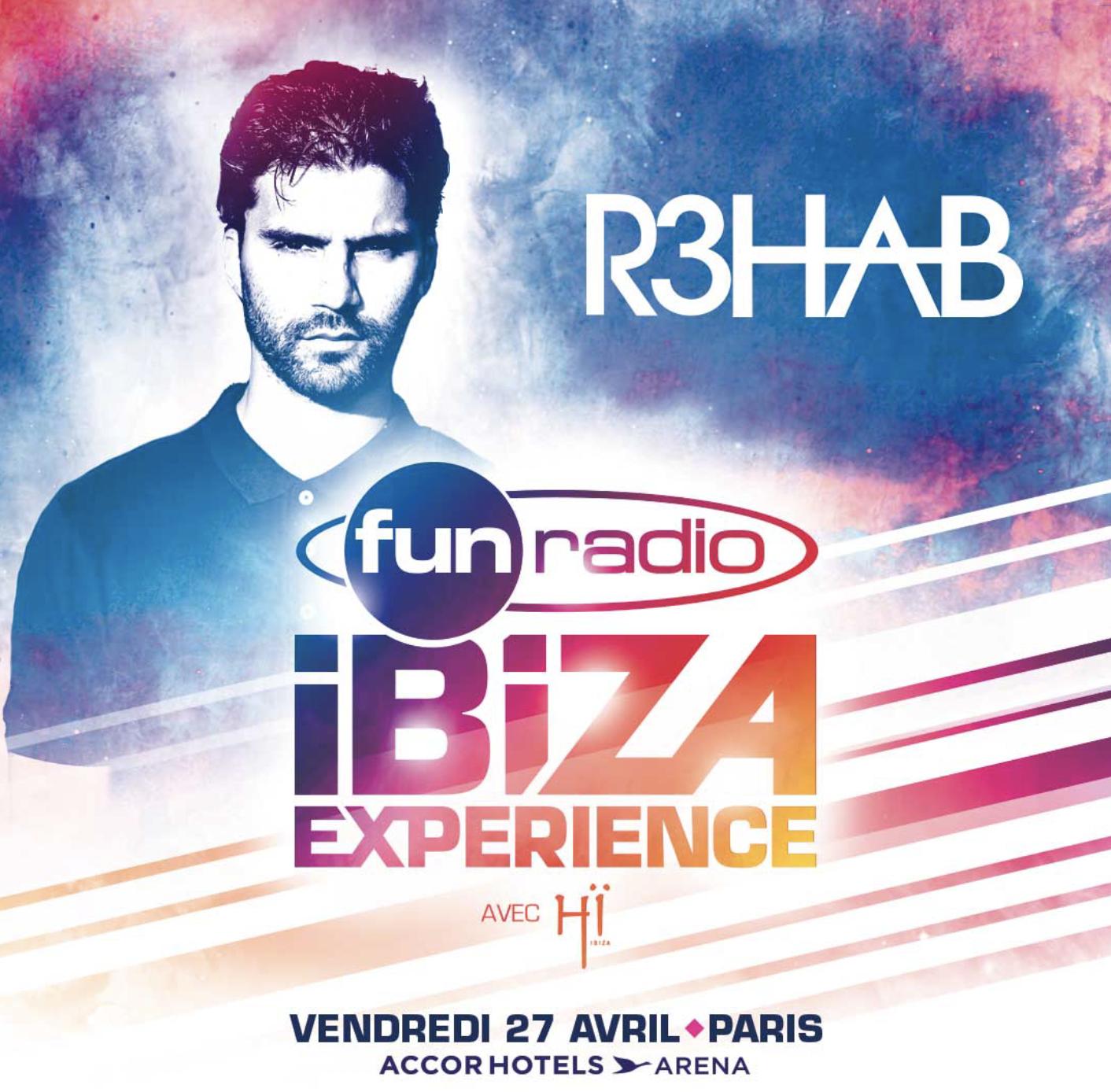 Le DJ R3HAB sur la scène de la Fun Radio Ibiza Experience