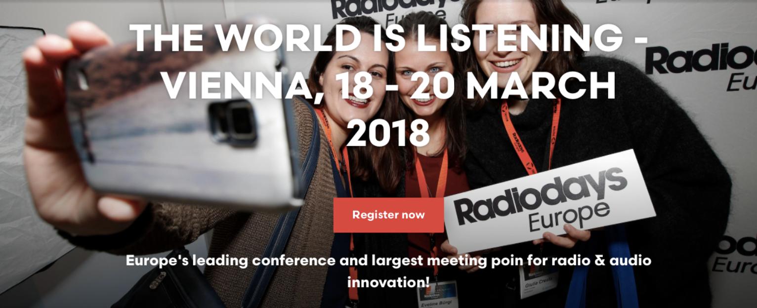Des conférences à ne pas manquer aux Radiodays 2018