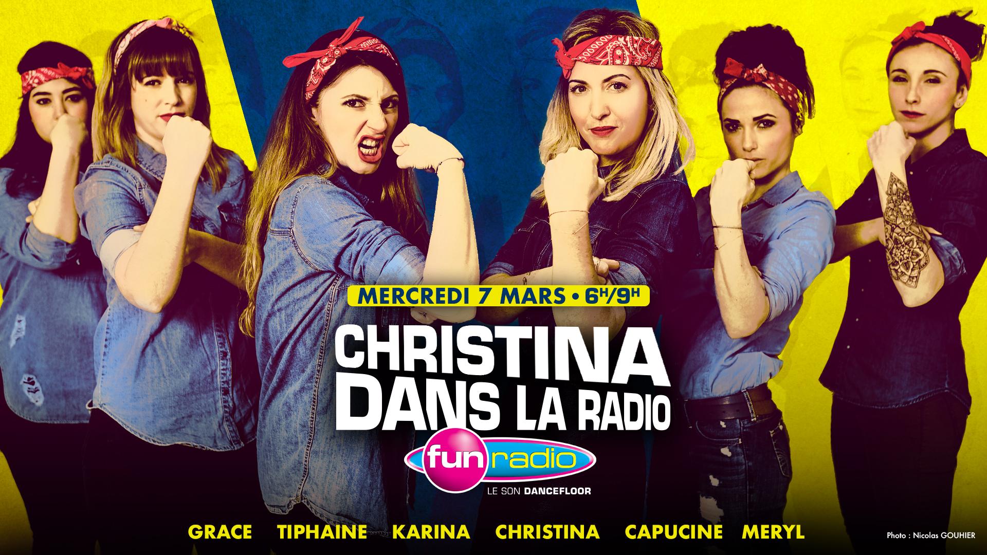"""""""Christina dans la radio"""" sur Fun Radio"""