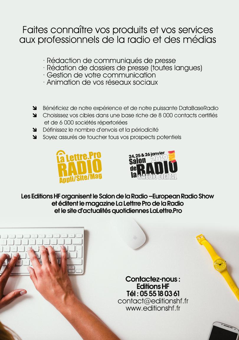 Ciblez tous les professionnels de la radio