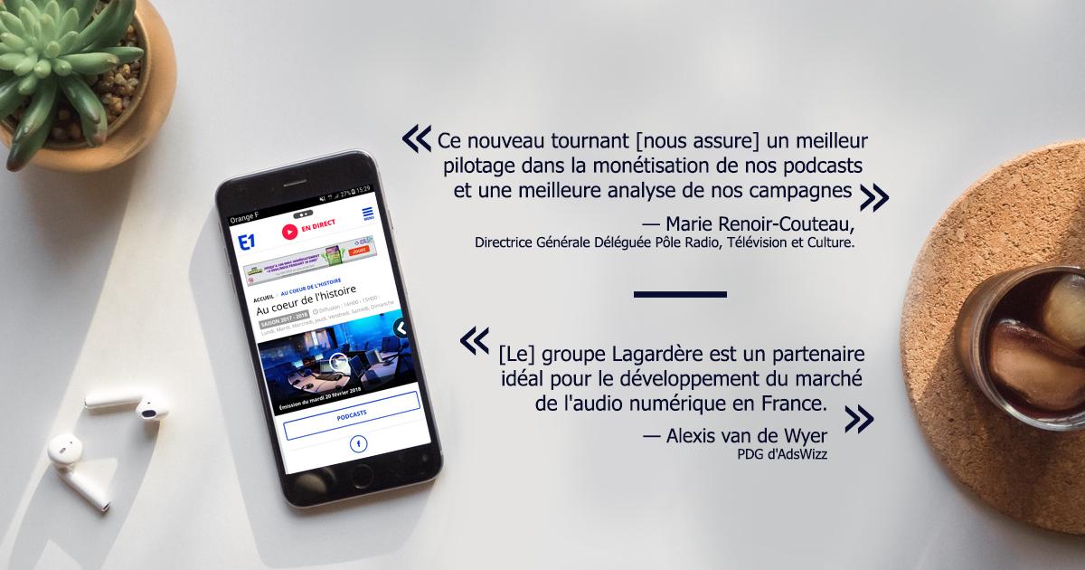 Lagardère Publicité a choisi la plateforme Adswizz