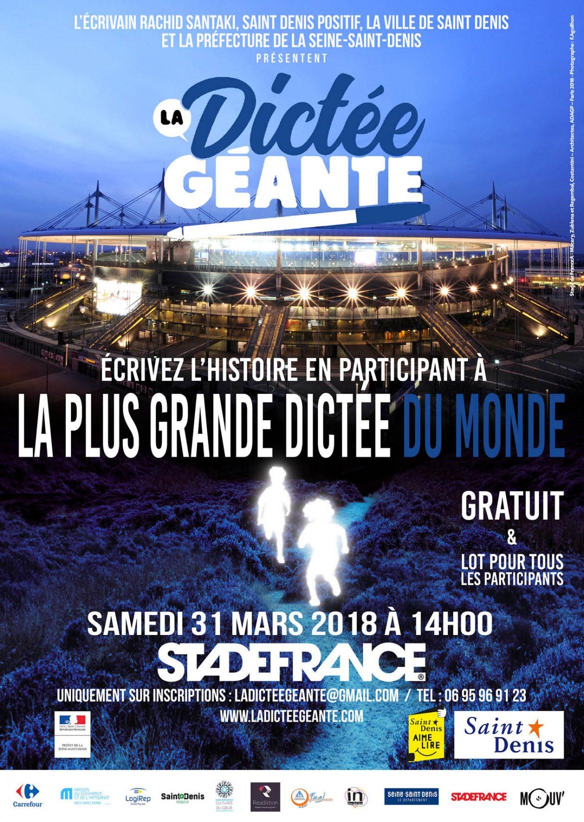 """Mouv' anime """"La Dictée géante"""" au Stade de France"""