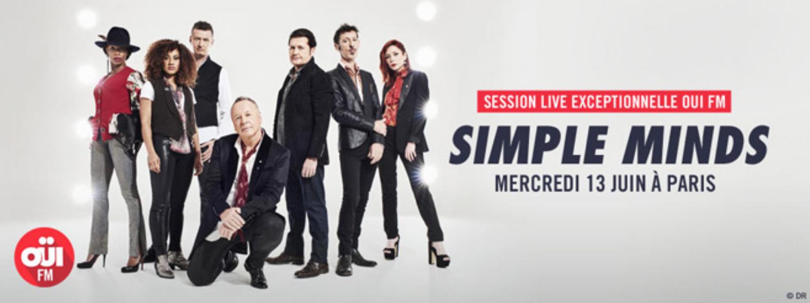 Un concert de Simple Minds avec Oui FM