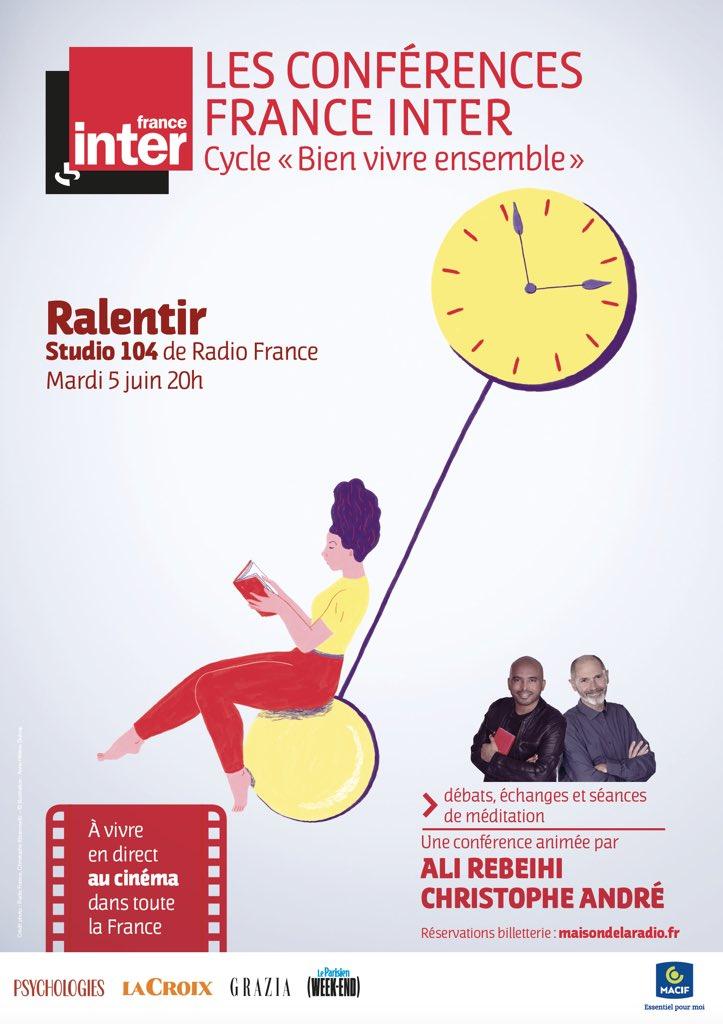"""France Inter : une conférence pour """"apprendre à ralentir"""""""