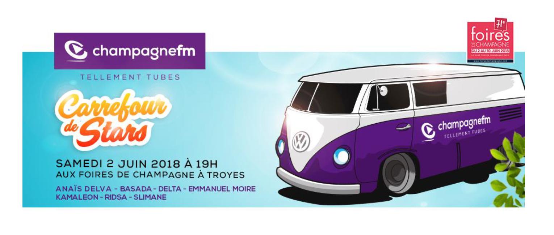 """Champagne FM : un """"Carrefour de Stars"""" à Troyes"""