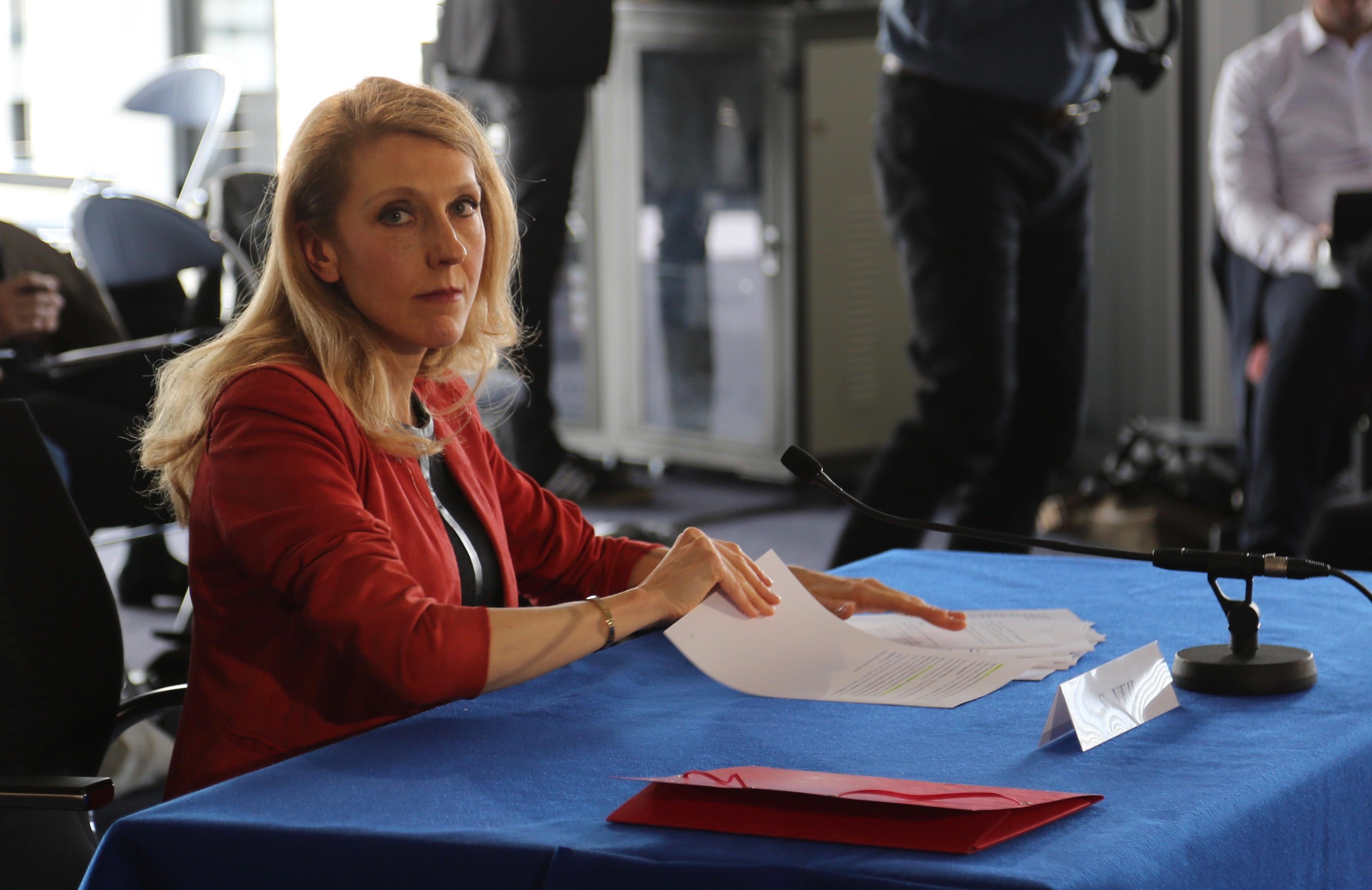 Sibyle Veil, la nouvelle présidente de Radio France, lors de son audition ce mercredi au CSA © Serge Surpin / La Lettre Pro de la Radio