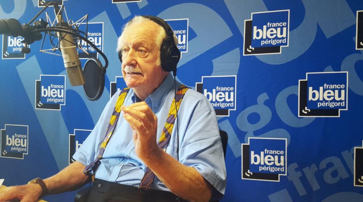 Pierre Bellemare dans les studios de France Bleu Périgord © Radio France - Benjamin Fontaine