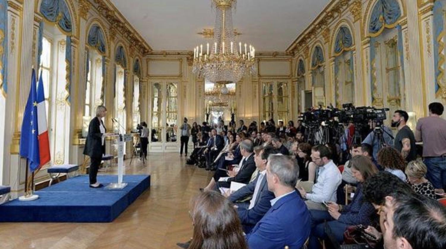 Ce lundi, François Nyssen a présenté son scénario pour réformer l'audiovisuel public © Thibaut Chapotot / Ministère de la Culture