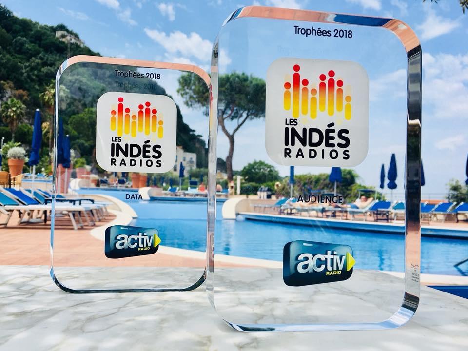 Activ Radio a été récompensée par deux trophées lors de la dernière convention des Indés Radios en Italie © Activ Radio