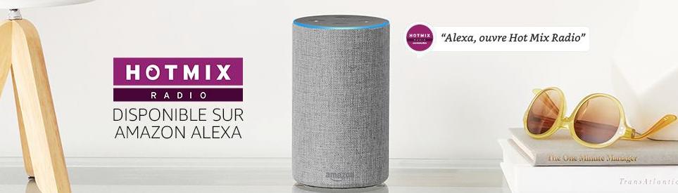 Hotmix Radio disponible sur les enceintes connectées d'Amazon