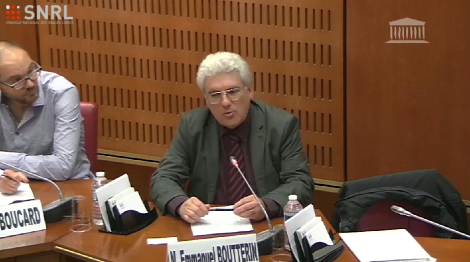Pierre Boucard et Emmanuel Boutterin ont partagé devant les députés leur vision de la radio