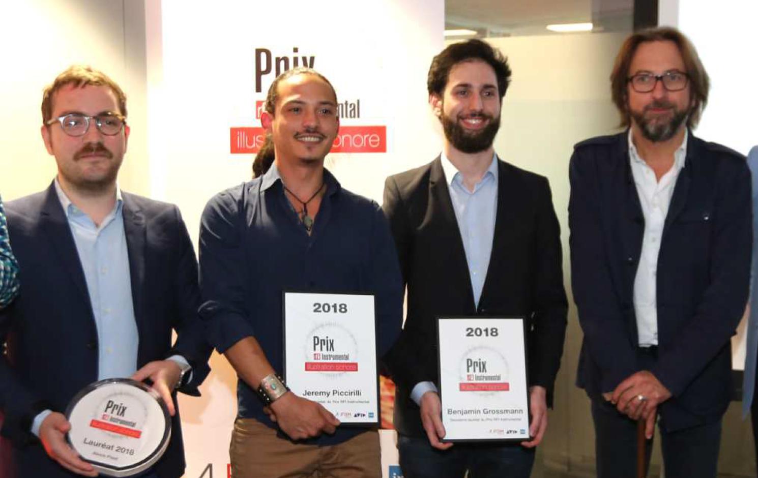 Les lauréats et le président du jury Alex Jaffray