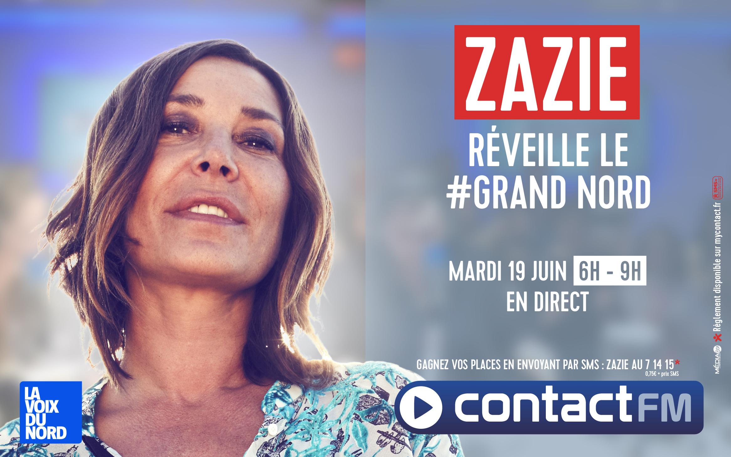 Zazie va réveiller les auditeurs de Contact FM