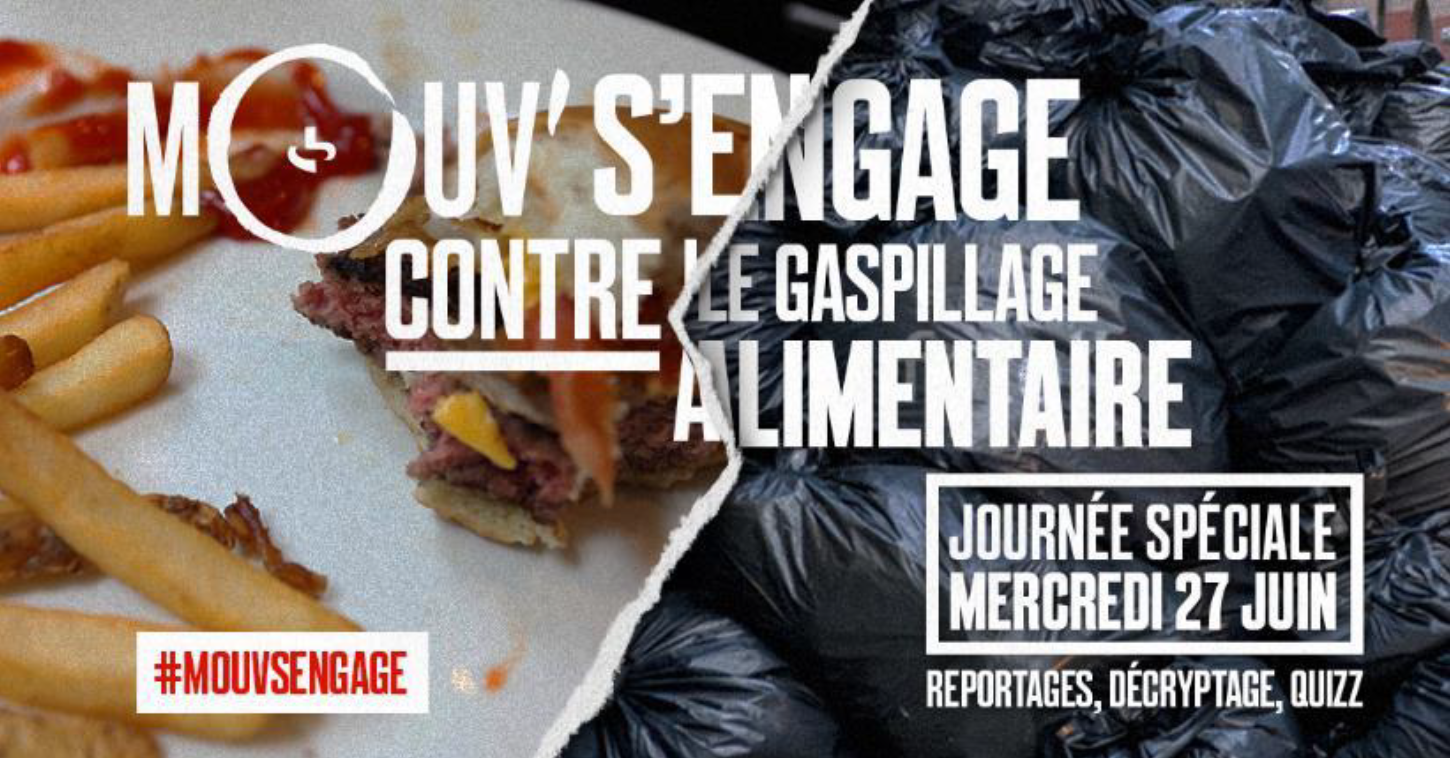 Mouv' s'engage contre le gaspillage alimentaire