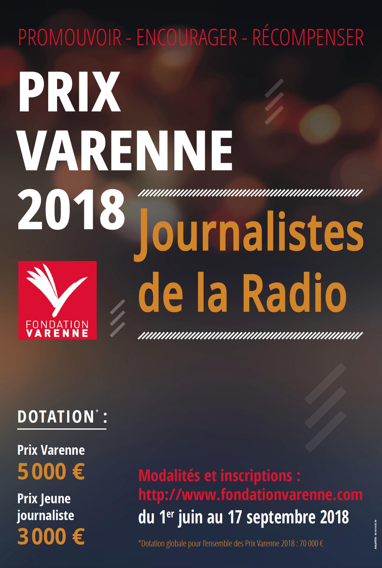 La Fondation Varenne lance ses Prix Varenne 2018