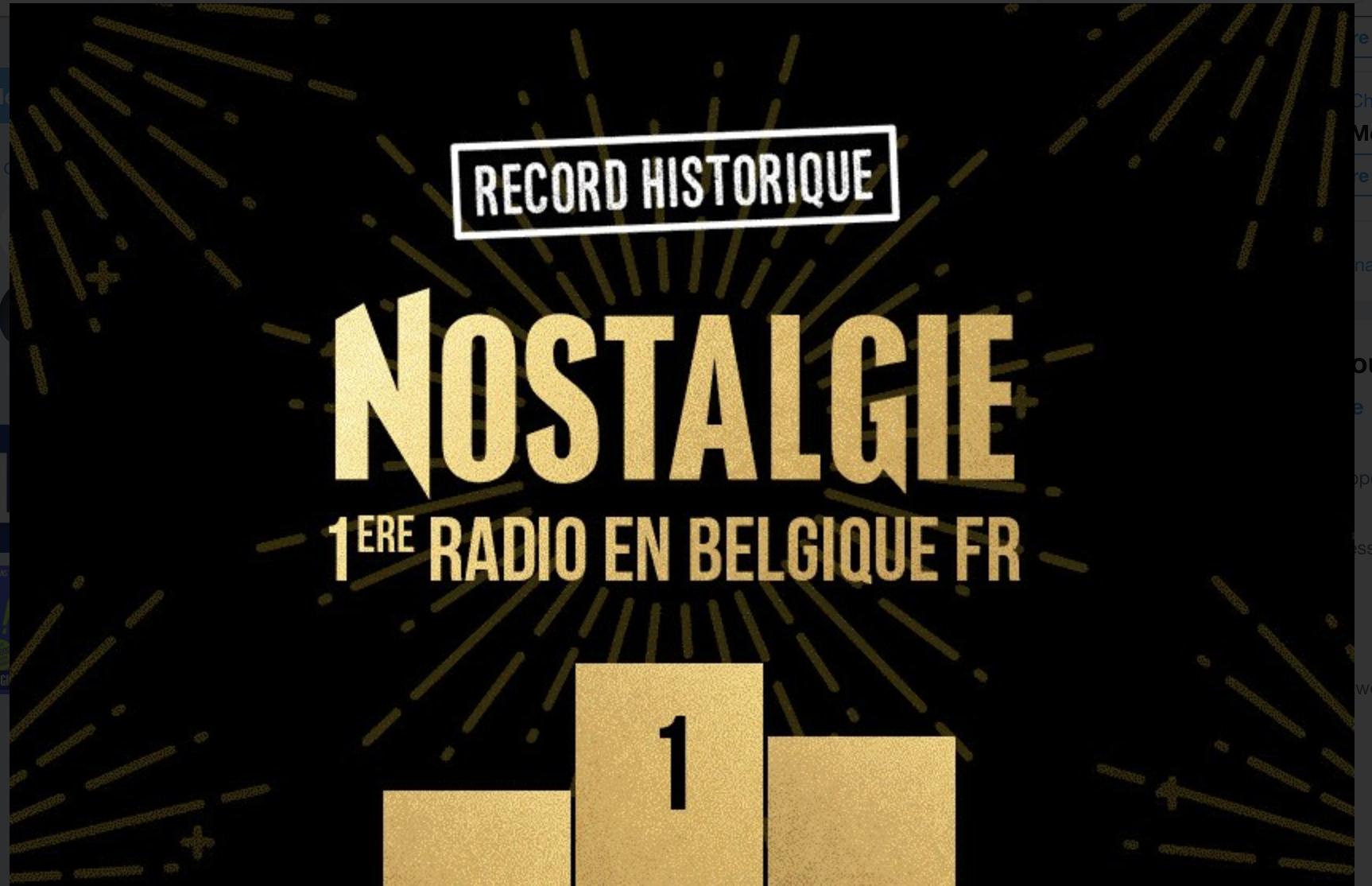 Nostalgie détrône Radio Contact en Belgique Francophone