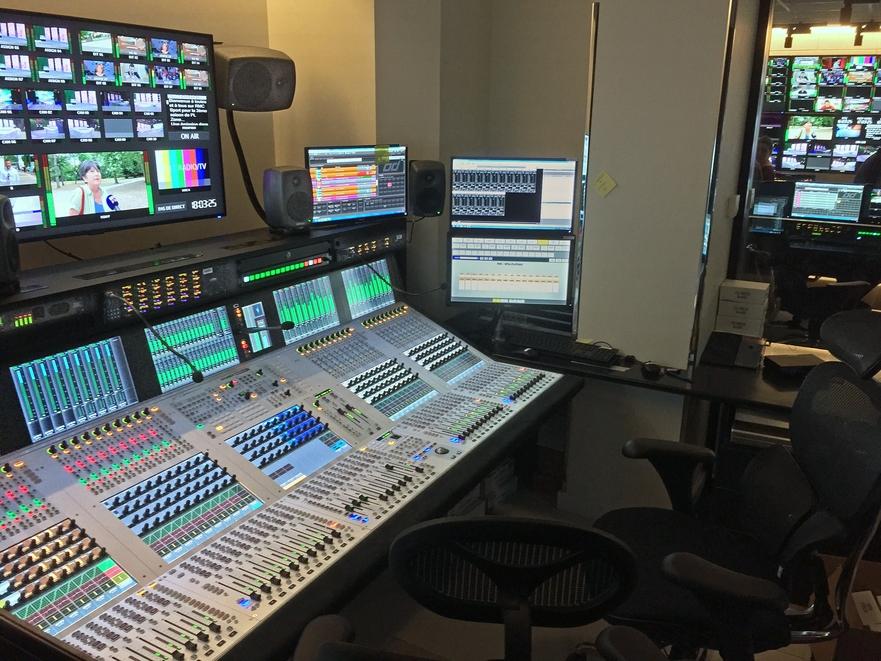 Les futurs studios de RMC dotés de consoles Studer