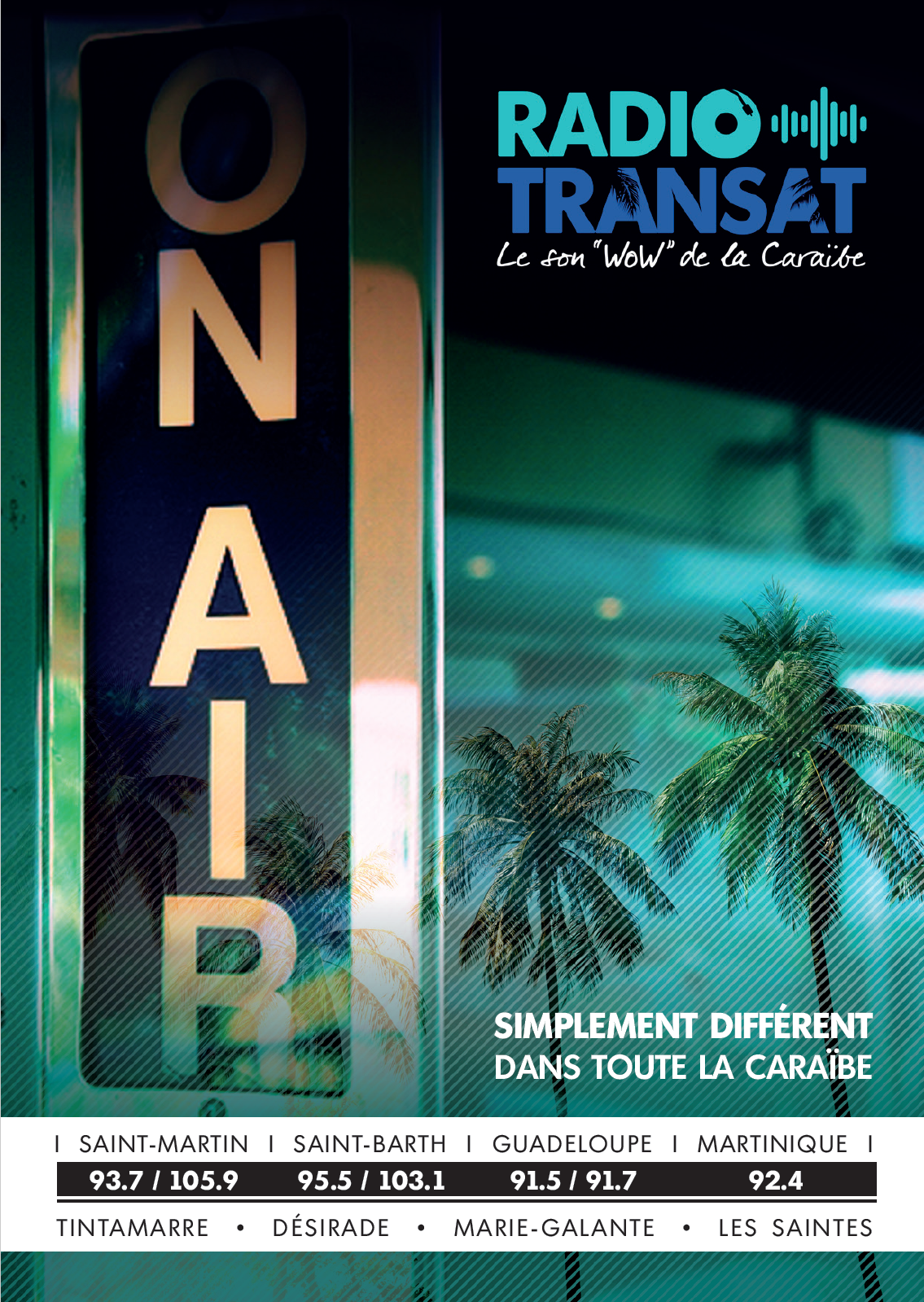 Régie Caraibes n°1 commercialise Radio Transat