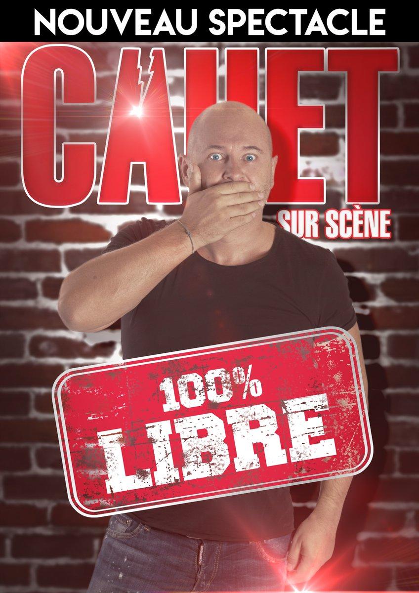 """L'animateur Cauet joue son nouveau spectacle """"100% libre"""""""