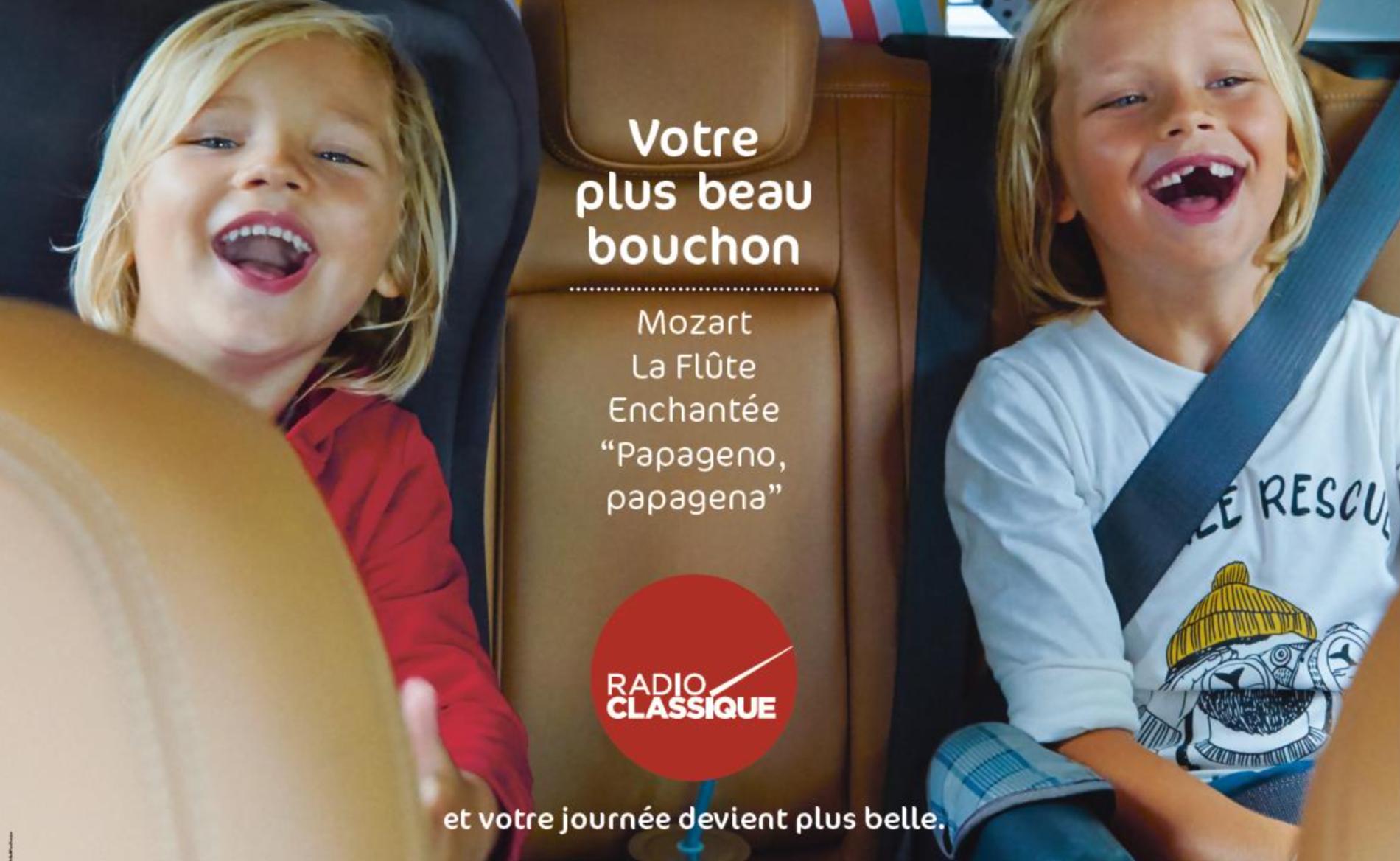 Radio Classique a lancé une large campagne de presse pour vendre son nouveau slogan.