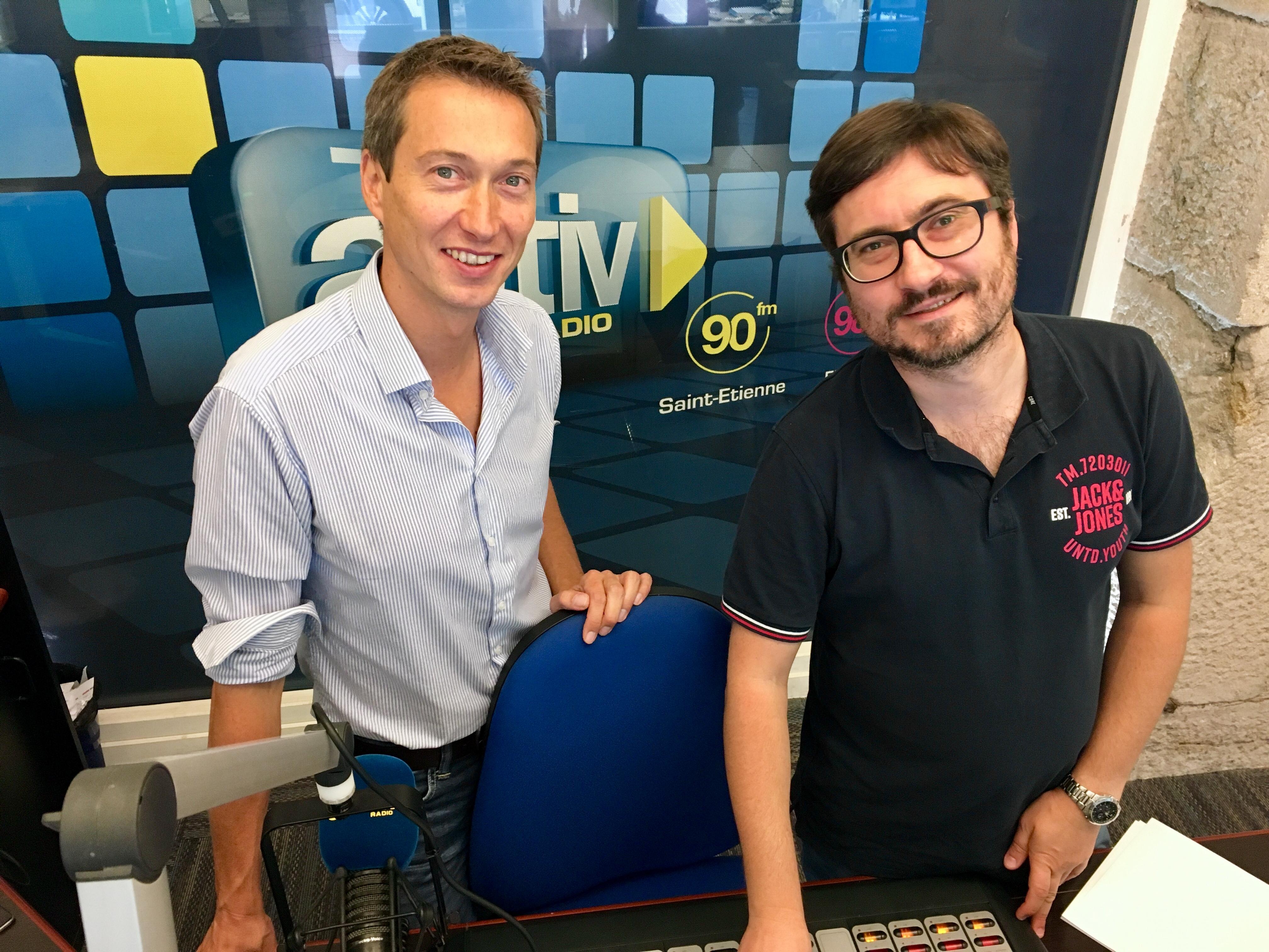 Les fondateurs d'Activ Radio, Romain Mazodier et Maxence Bertholon.