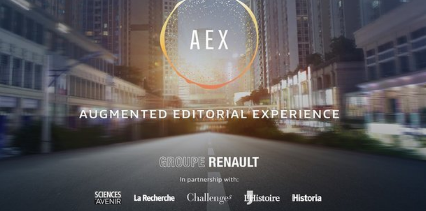 Renault s'est associé au Groupe Challenges pour présenter ce prototype au Mondial de l'Auto.