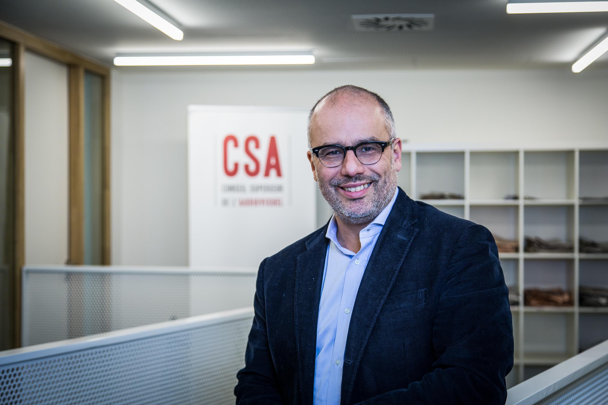Karim Ibourki, 48 ans, président du CSA belge depuis novembre 2017. © Wen-Chi Su