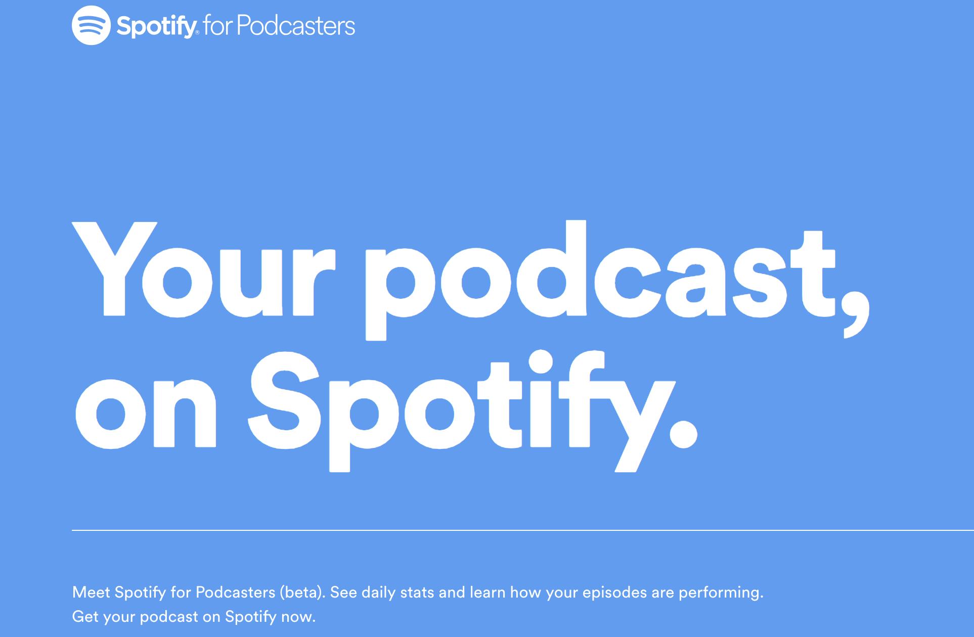 Spotify s'ouvre à tous les podcasts