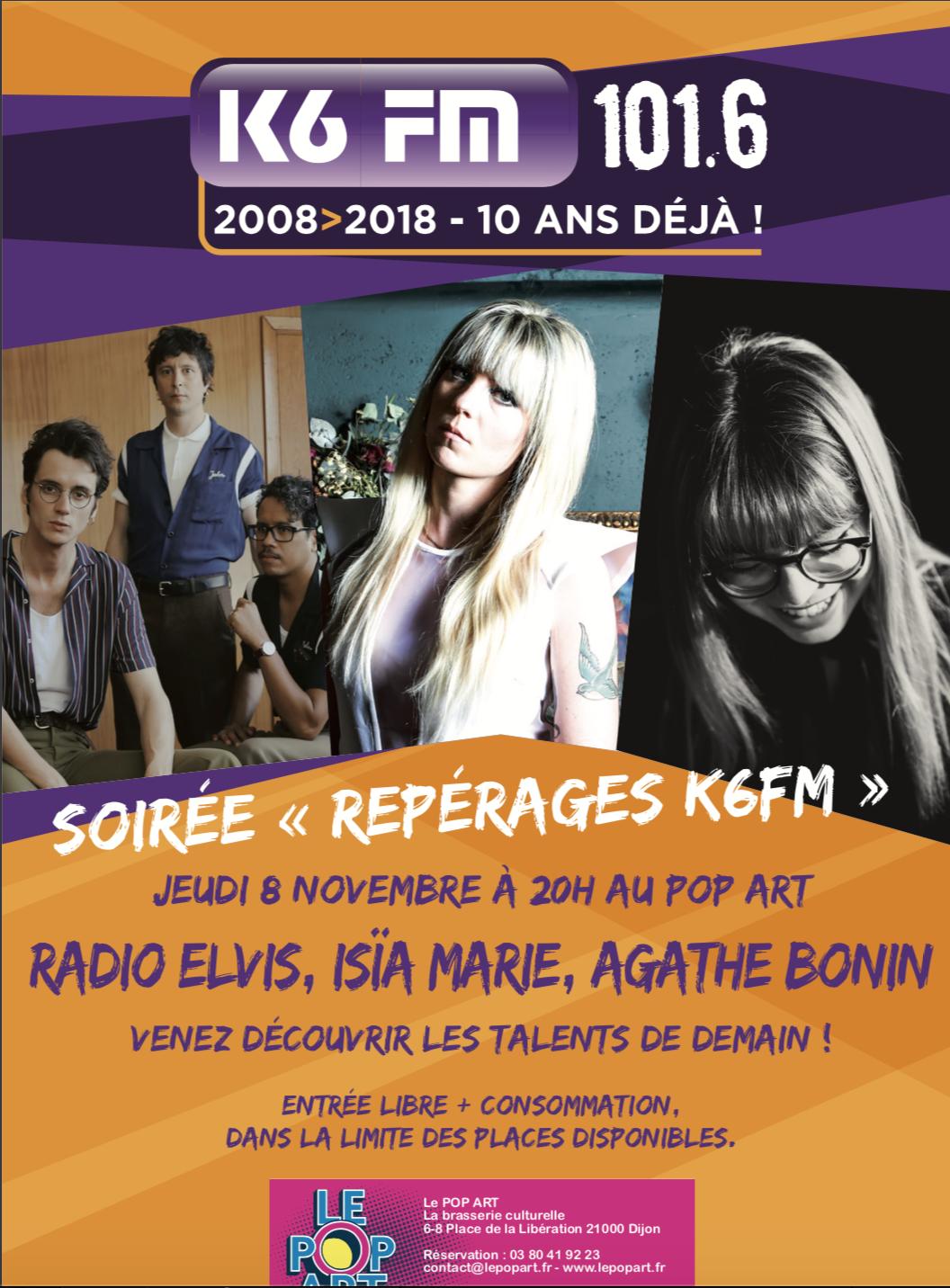 """K6FM organise une nouvelle soirée """"Repérages"""" à Dijon"""