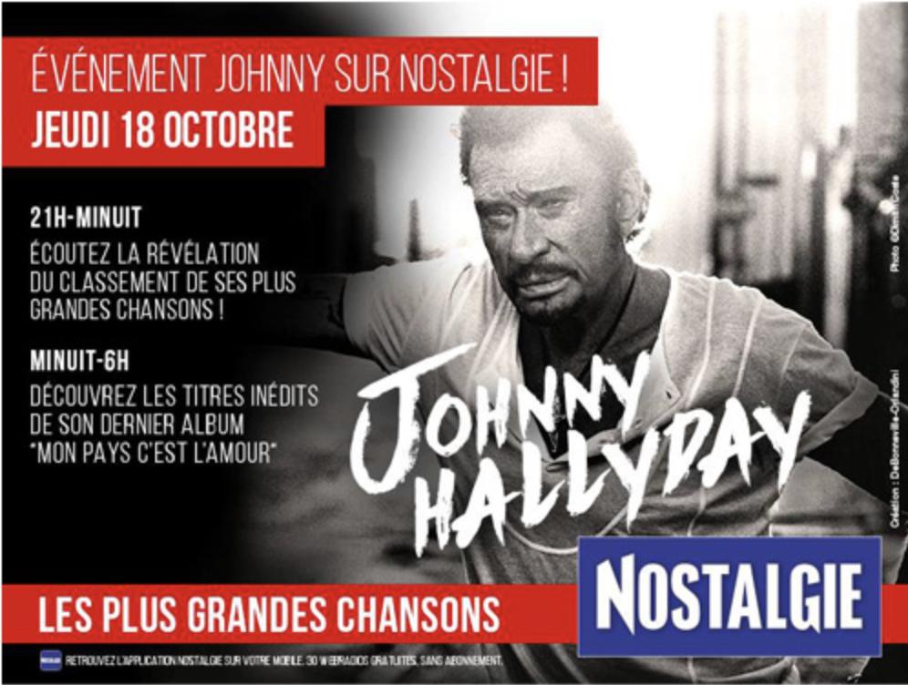 La station se mobilise pour la sortie du nouvel album de Johnny.