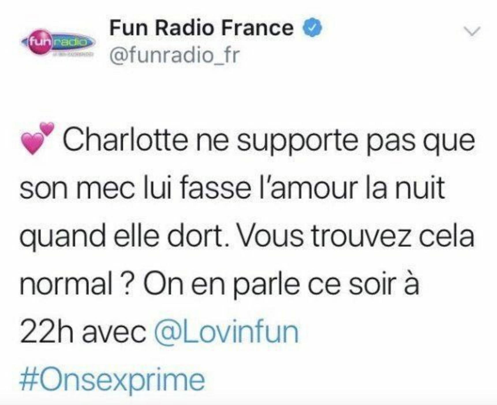 Fun Radio : le tweet de la polémique