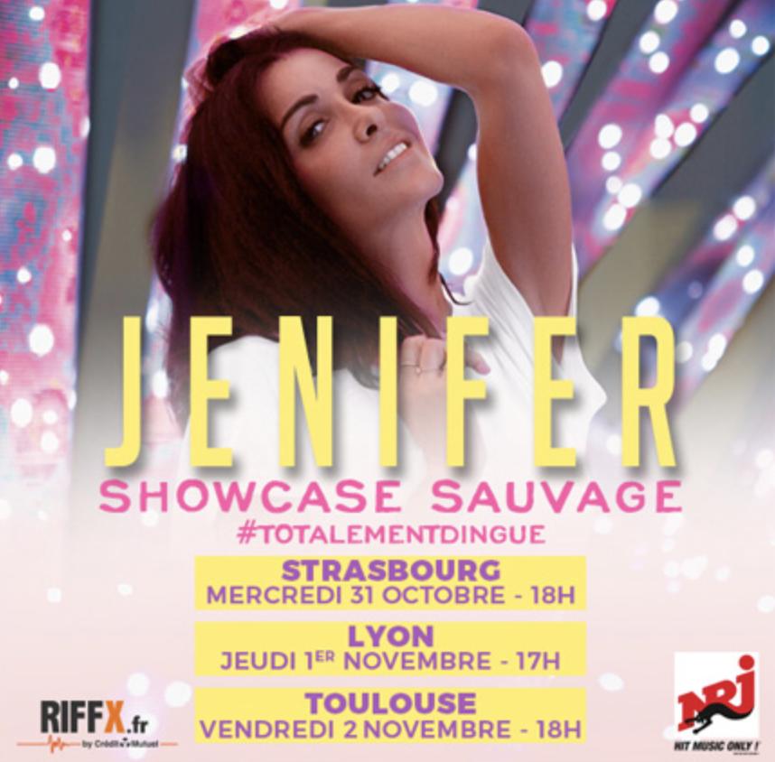 """NRJ : des showcases """"sauvages"""" avec la chanteuse Jenifer"""