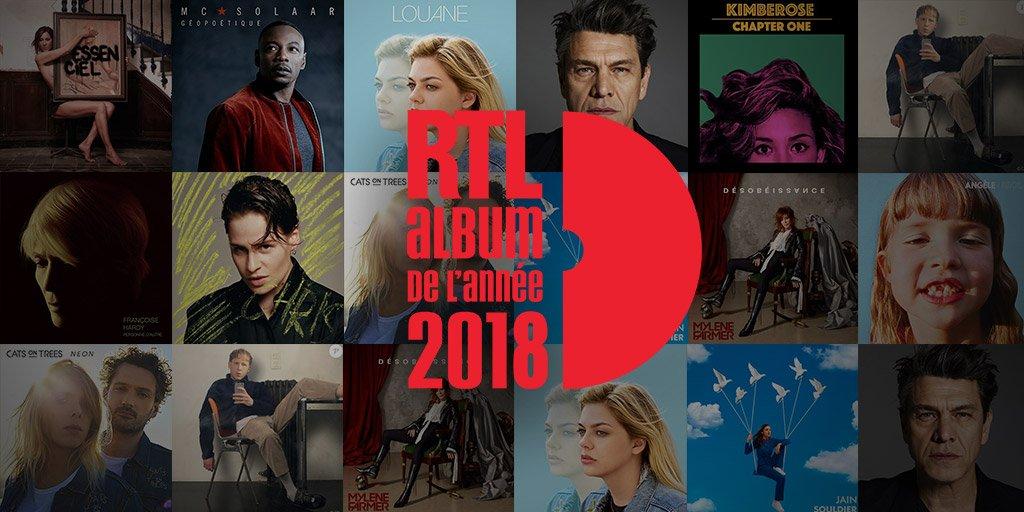 """Douze albums en lice pour le prix """"Album RTL de l'année"""""""