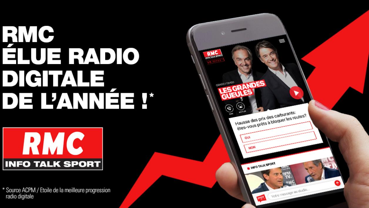 RMC élue radio digitale de l'année 2018