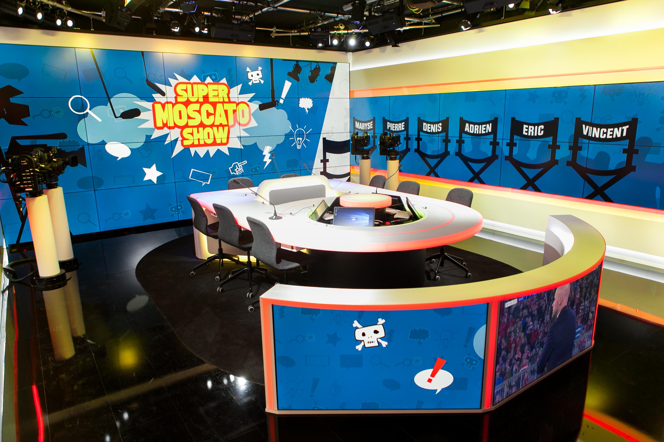 Les nouveau studios (hybrides pour la diffusion radio et TV) de RMC