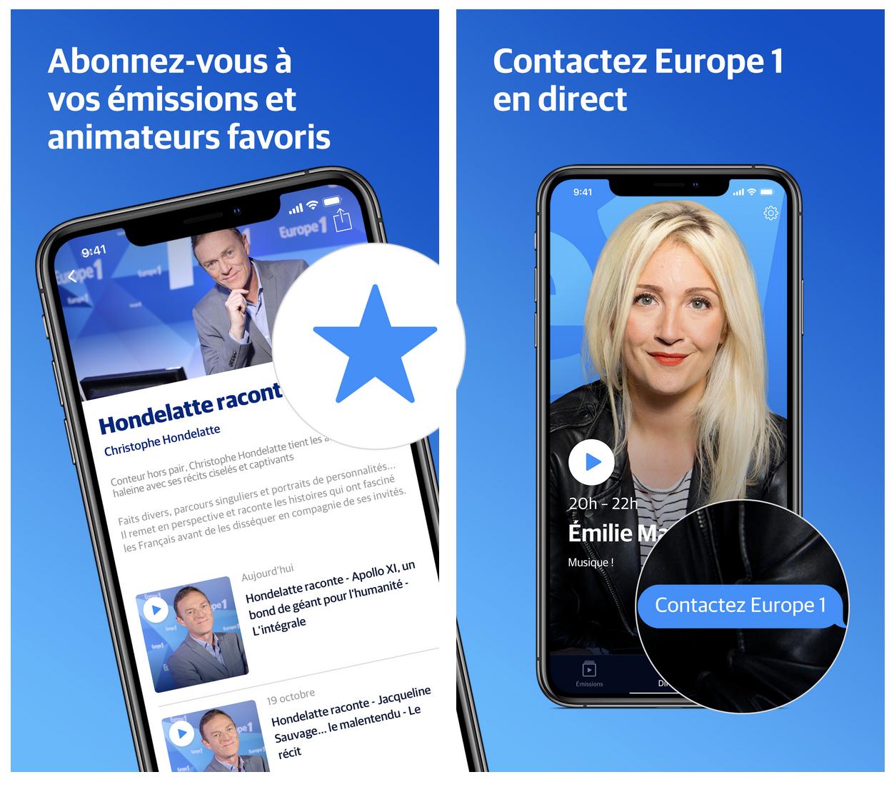 Europe 1 lance sa nouvelle application