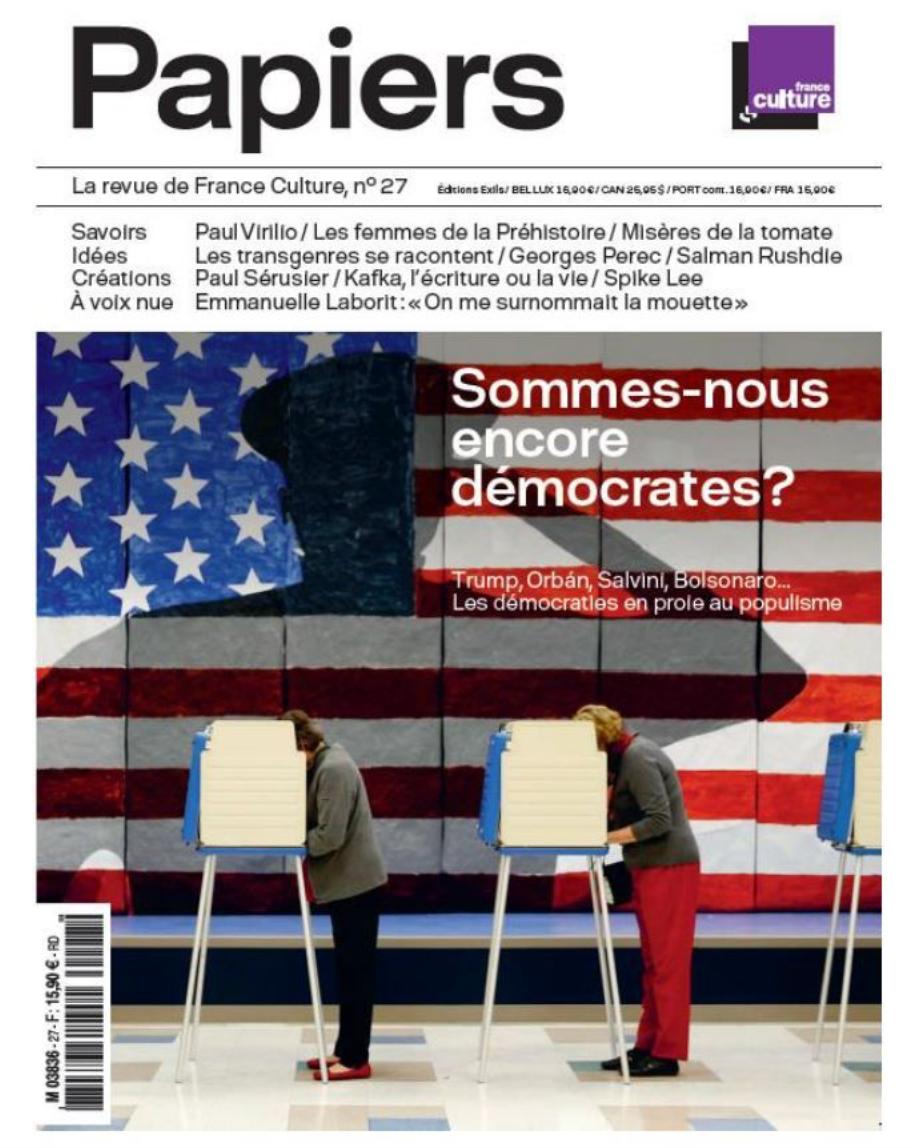 """Parution de la revue """"Papiers"""" de France Culture"""