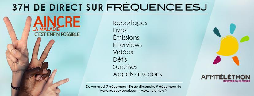 Téléthon : 37 heures de direct pour Fréquence ESJ