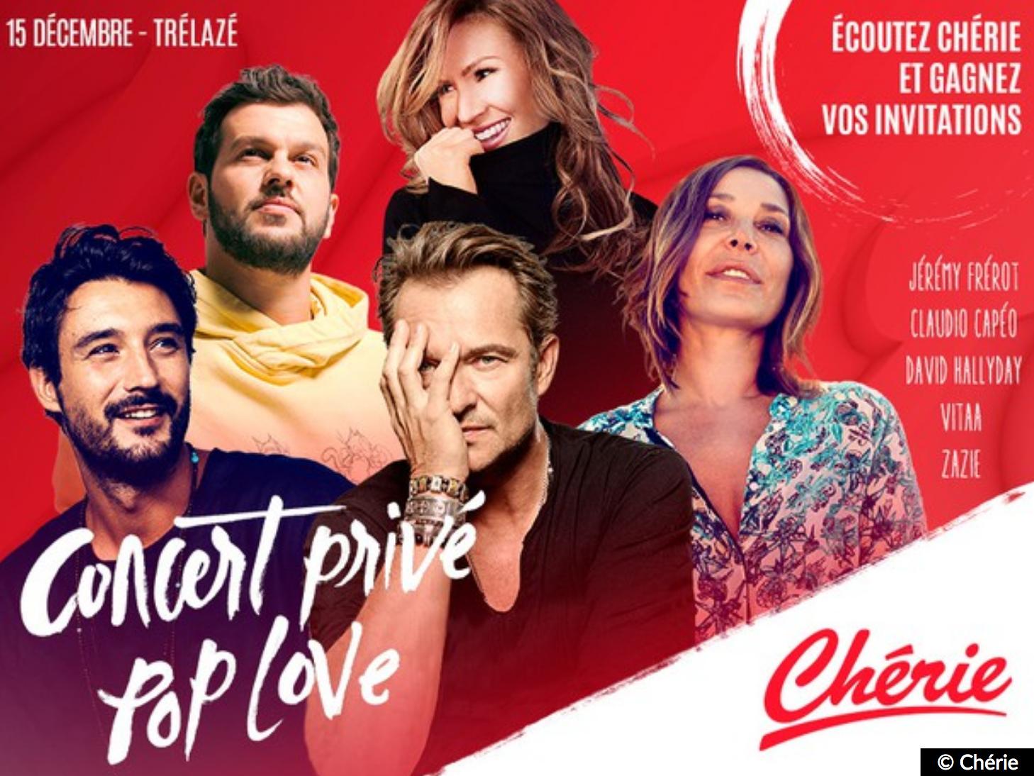 """Chérie : un concert privé """"Pop Love"""" à Trélazé"""