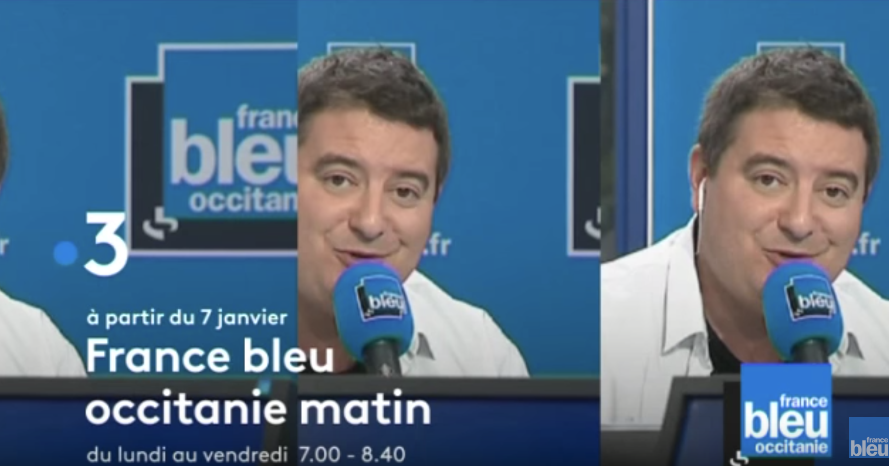 France 3 Nice et Toulouse vont diffuser les matinales de France Bleu. Photo capture France 3
