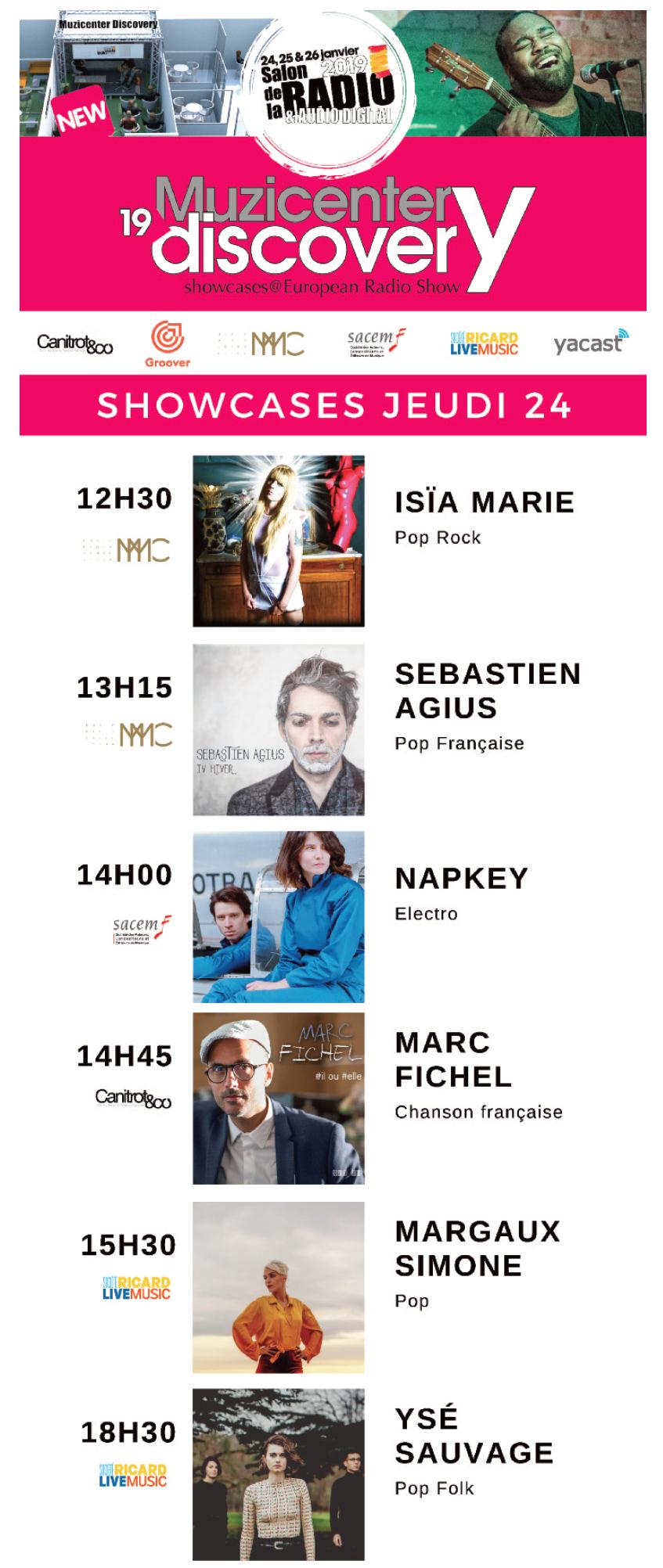 Quinze showcases au Salon de la Radio